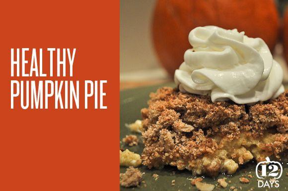Createlive: Healthy Upside Down Pumpkin Pie - Cutting some major ...