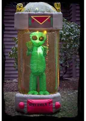 Inflatable airblown halloween yard decoration 7 ft tall for Alien decoration