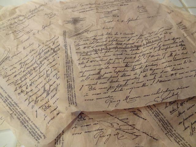 homemade script tissue paper