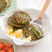 Pea, spinach and feta fritters - 8 points