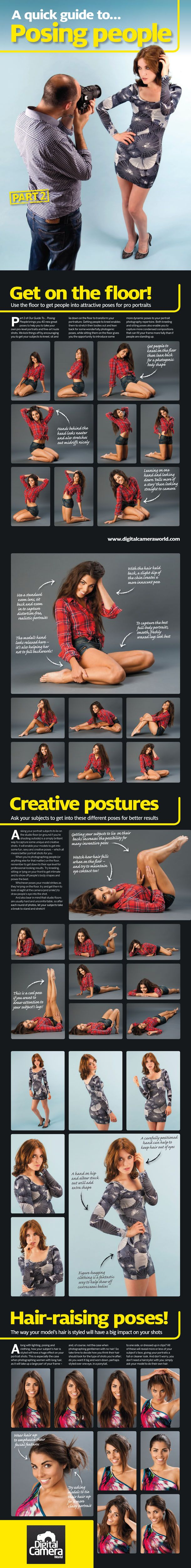 Free portrait #photography posing guide: 40 different ideas for poses, postures and hairstyles.