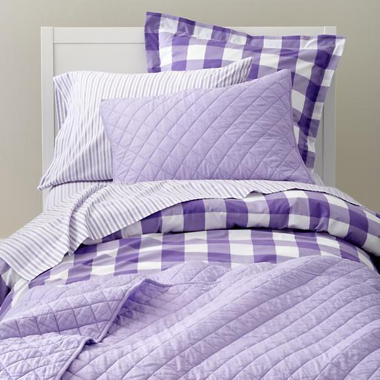 Breezy Gingham Bedding Lavender