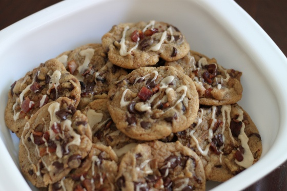 Maple-Glazed Bacon Chocolate Chip Cookies
