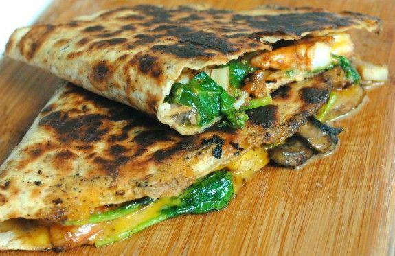 Shrimp, Mushroom and Spinach Quesadillas | Food... Glorious... Food ...