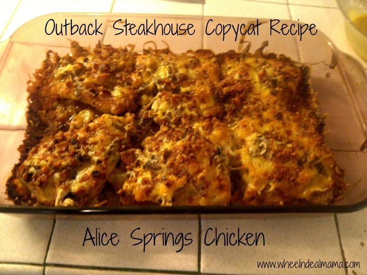 outback alice springs chicken | chicken recipes I need to try | Pinte ...