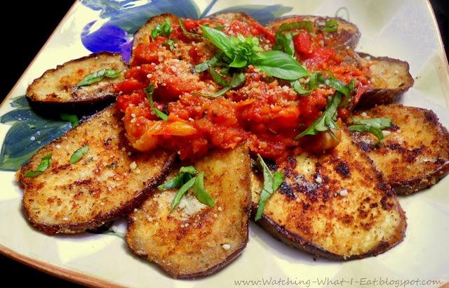 Low Fat Eggplant Parmesan | Cooking Light | Pinterest