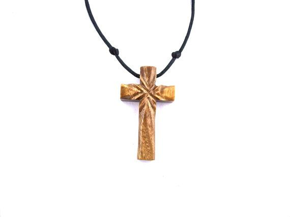 Christian Jewelry, Wood Cross Necklace, Wood Pendant, Wood ...
