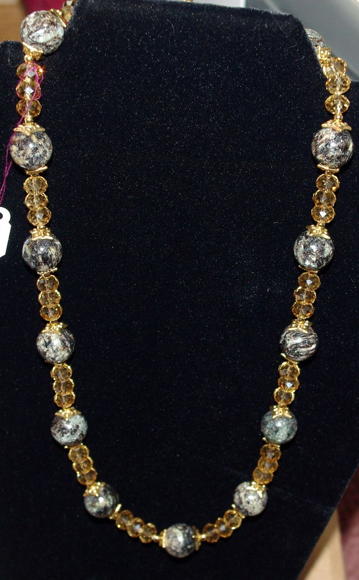 Crystal and Stone Necklace | JEWELRY