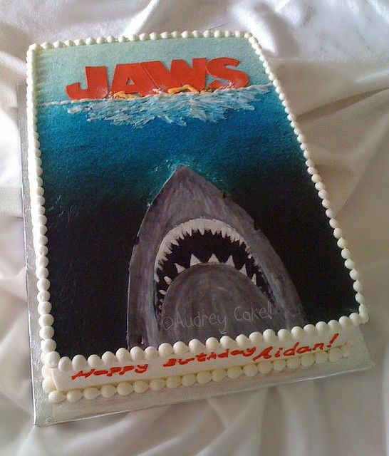 jaws cake Drew things Pinterest