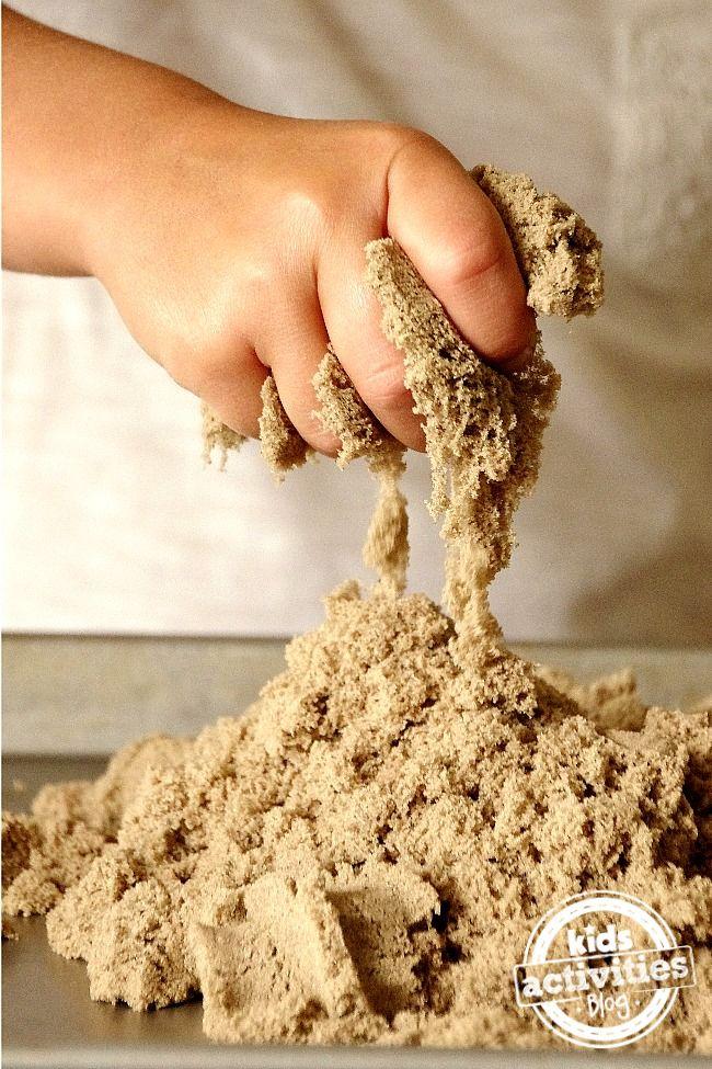 Как сделать кинетический песок домашних условиях без песка 185