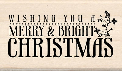 Inkadinkado Christmas Mounted Rubber Stamp-Merry and Bright Christmas $6.79