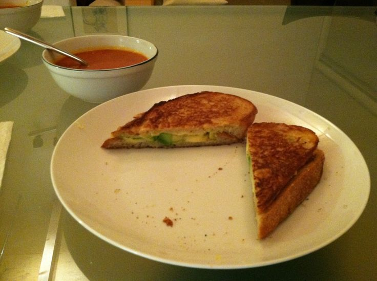 avocado havarti and gouda grilled cheese | Melted Cheese | Pinterest