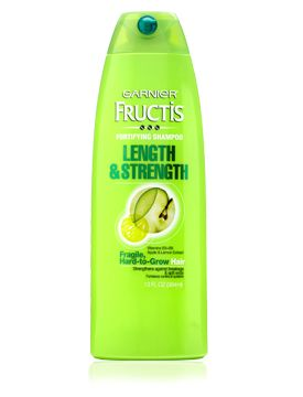 Garnier Fructis Length & Strength Shampoo and Conditioner -- I absolutely LOVE this product. My hair is super fine and grows so slowly. I've tried lots of products and none of them have helped like this. My hair looks better, feels better, and I love it!