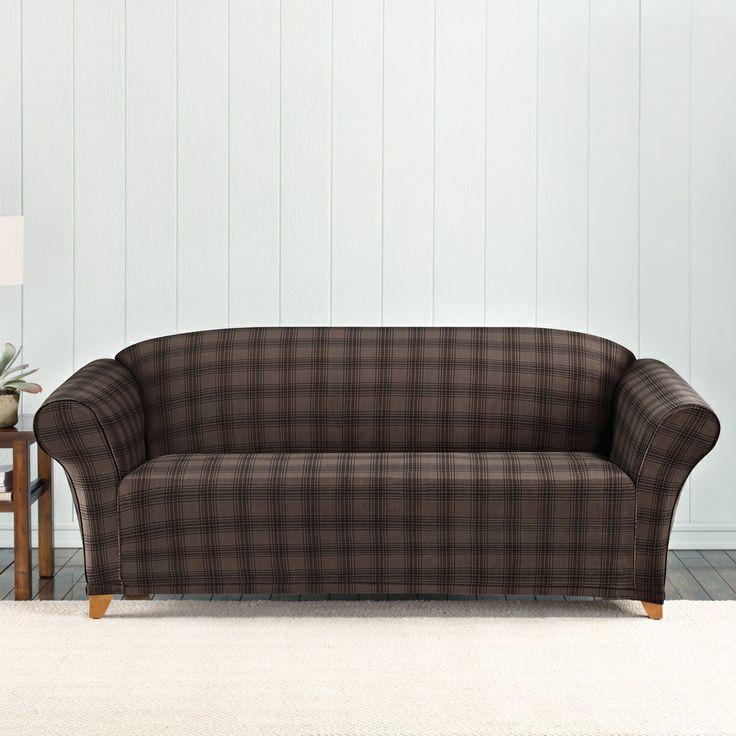Sure Fit Stretch Belmont Plaid Sofa Slipcover