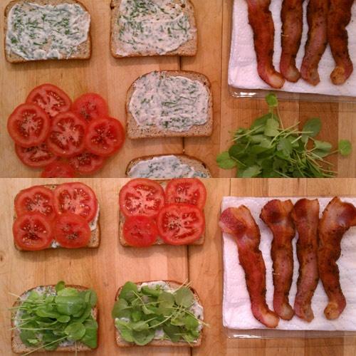 California BLT With Avocado And Basil Mayonnaise Recipes — Dishmaps