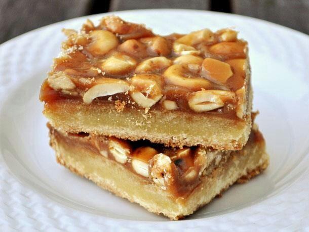 Caramel Cashew Bars | Desserts | Pinterest