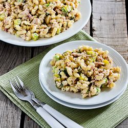Tuna and Macaroni Salad Recipe with Dill Pickles, Capers, and Green O ...