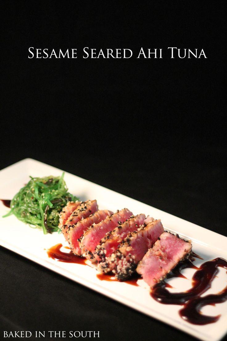 Sesame Seared Ahi Tuna | Food:) - Apps, Dips, Snacks | Pinterest