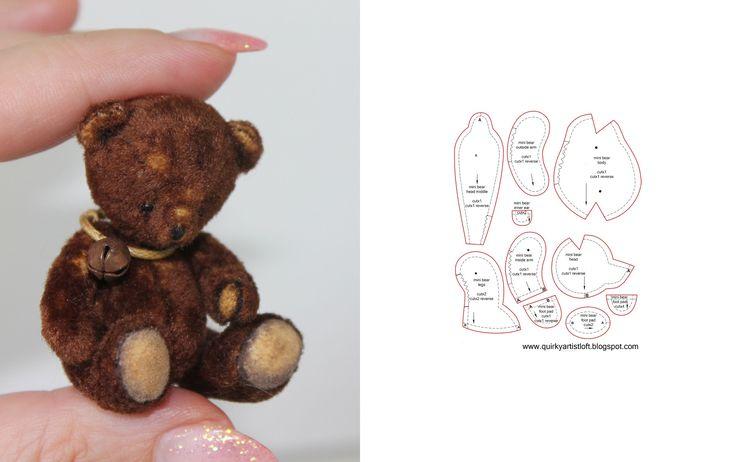 Мишки миниатюрные сшить своими руками 56