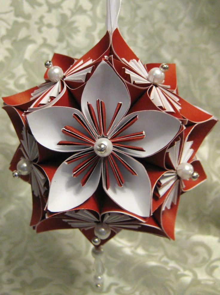 Diy kusudama flower ornament christmas pinterest for Diy paper ornaments