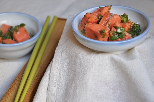 salmon and cilantro ceviche | E.A.T.T. Eat at Tawnya's Table | Pinte ...