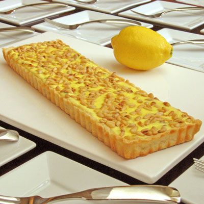 Lemon & Pine Nut Sheep's Milk Ricotta Tart | Recipe