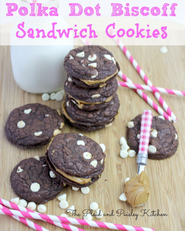 Polka Dot Biscoff Sandwich Cookies. The Best cookie that used to be a ...