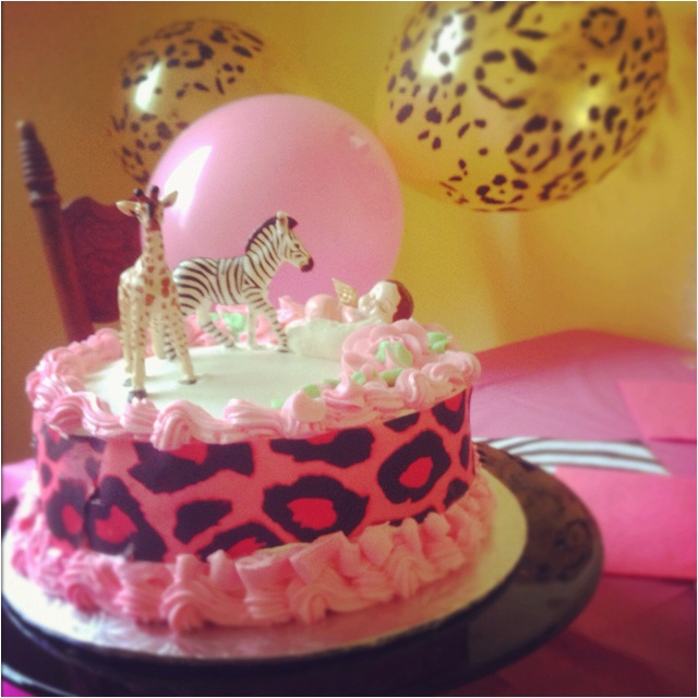 pink animal print baby shower cake safari shower stuff pinterest
