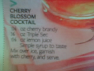 Cherry blossom cocktail | Alcoholics-R-Us | Pinterest
