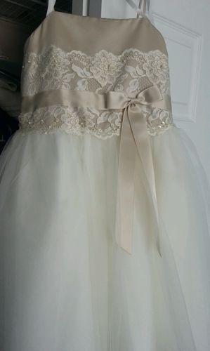 Flower Girl Dresses Davids Bridal White : David s bridal flower girl dress size champagne and ivory