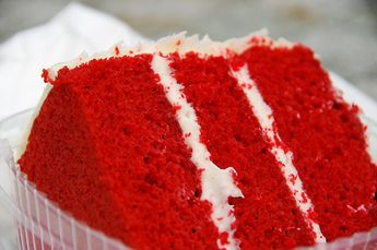 ... grandmother's recipe for Red Velvet Cake with Fluffy White Frosting