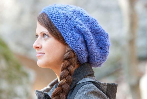 Cowl Neck Scarf Knitting Pattern Free : Knit slouchy hat. Free pattern Craft Ideas Pinterest