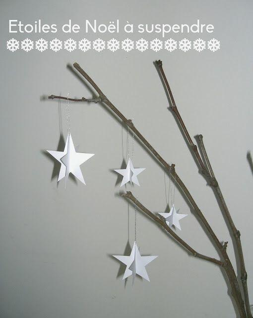 Etoiles de Noël en relief à suspendre  Déco de Noël Home Made ...