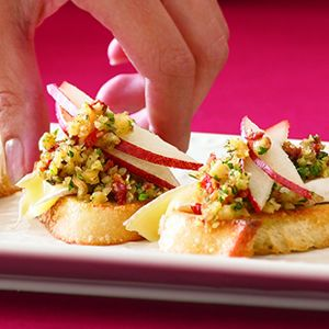 Pear and Brie Crostini   Test Kitchen   Pinterest