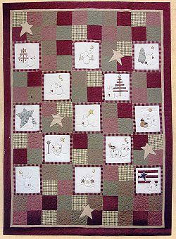 Free Winter Holidays, Christmas, Chanukkah, Snowman Quilt