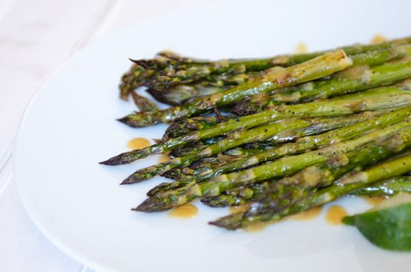 Asparagus with Miso Dressing   Recipes: To Try (Sides)   Pinterest