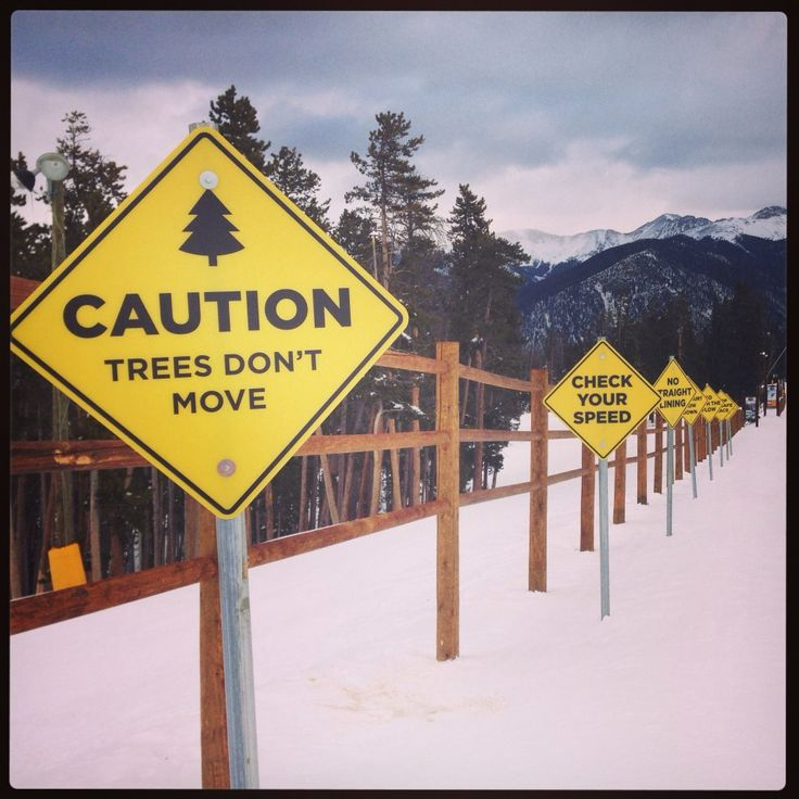 My kids loved this sign at @Breckenridge Kling Rochow Resort Colorado #skiing
