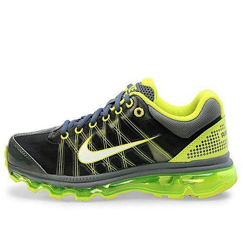 Youth Nike Air Max + 2009 (GS) Boys Running Shoes Dark Grey / Cyber