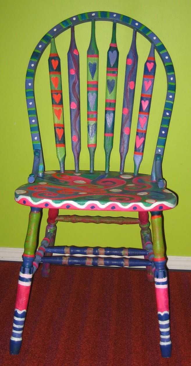 Funky painted chairs furniture rehab pinterest for Funky furniture