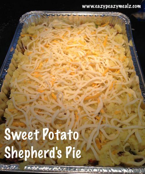 Sweet Potato Shepherd's Pie with Ground Turkey or Beef - Freezer Meal
