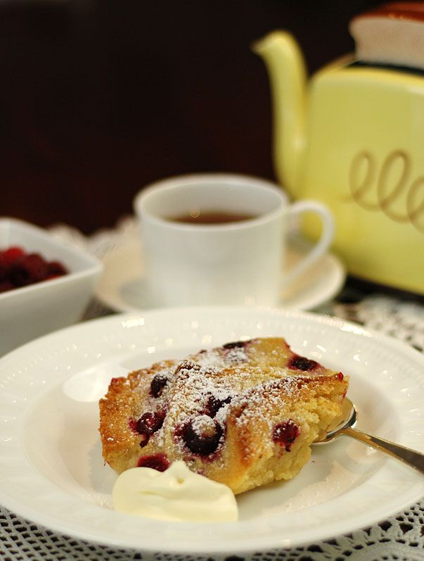 White Chocolate Bread Pudding made with Rose and Vanilla Infused Cream