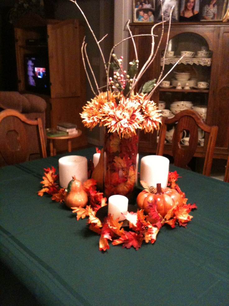 Fall table centerpiece.