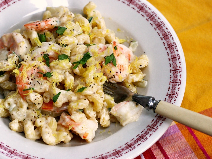 Pasta with Shrimp, Lemon, Herbs and Feta by The Perfect Pantry