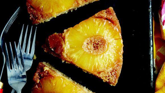 Pineapple Upside-Down Cake with Hawaiian Sea Salt   Salt enhances the ...