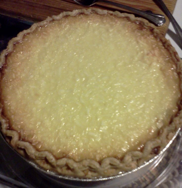 coconut custard pie | Recipes to try this week | Pinterest