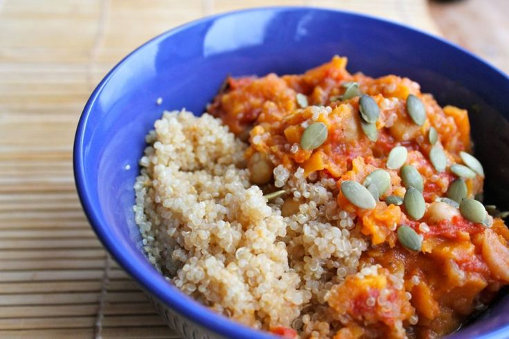 Sweet Potato Chickpea Stew w/Quinoa (from butter vs burpees)
