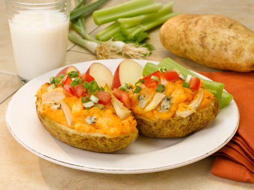 Potato Skins w/Buffalo Chicken | Health | Pinterest