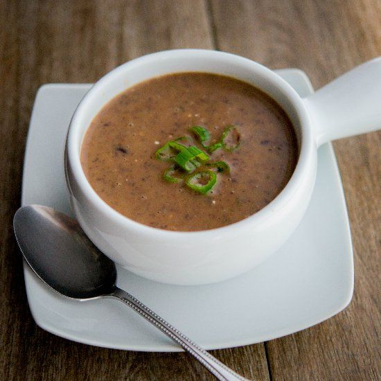 Vegetarian Black Bean Soup | La table | Pinterest