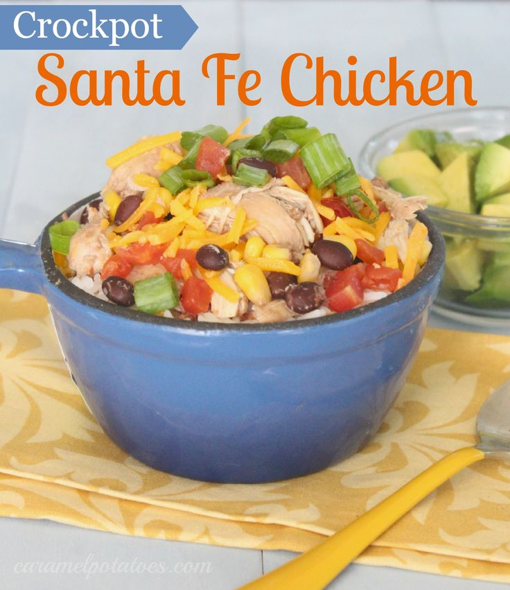 Crockpot Santa Fe Chicken - this is so easy and so healthy. Love this ...
