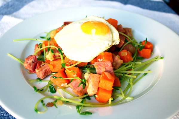 ham and sweet potato hash | Put An Egg On It | Pinterest